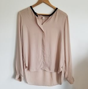 Forever 21 oversized tunic semi sheer blouse